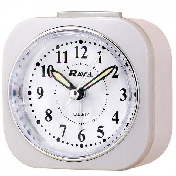 Ravel Quartz Alarm Clock white RC012