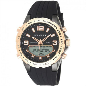 Henley Mens Fashion Ana-Digi Watch HDG034.34-Rose Gold