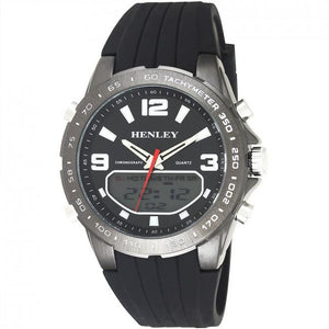 Henley Mens Fashion Ana-Digi Watch Black HDG034.10