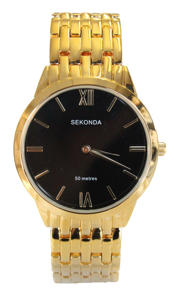 Sekonda 1611 Mens Gold Plated Dress bracelet watch
