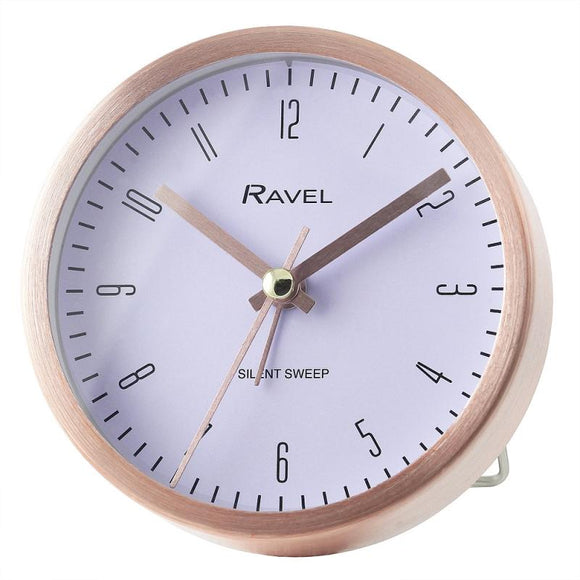 Ravel RC026 Brushed metal Alarm clock