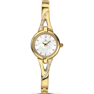 Accurist 8039 Ladies Gold Plated Dress Bracelet watch
