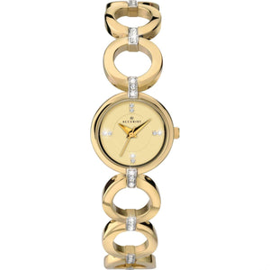 Accurist 8058 Ladies Luxury Gold Plated Dress Bracelet watch