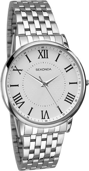 Sekonda 1331 Gents Quartz Analogue White Dial Stainless Steel Watch