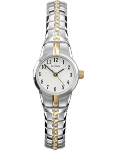 Sekonda 4091 Two Tone Ladies Expanding Bracelet watch