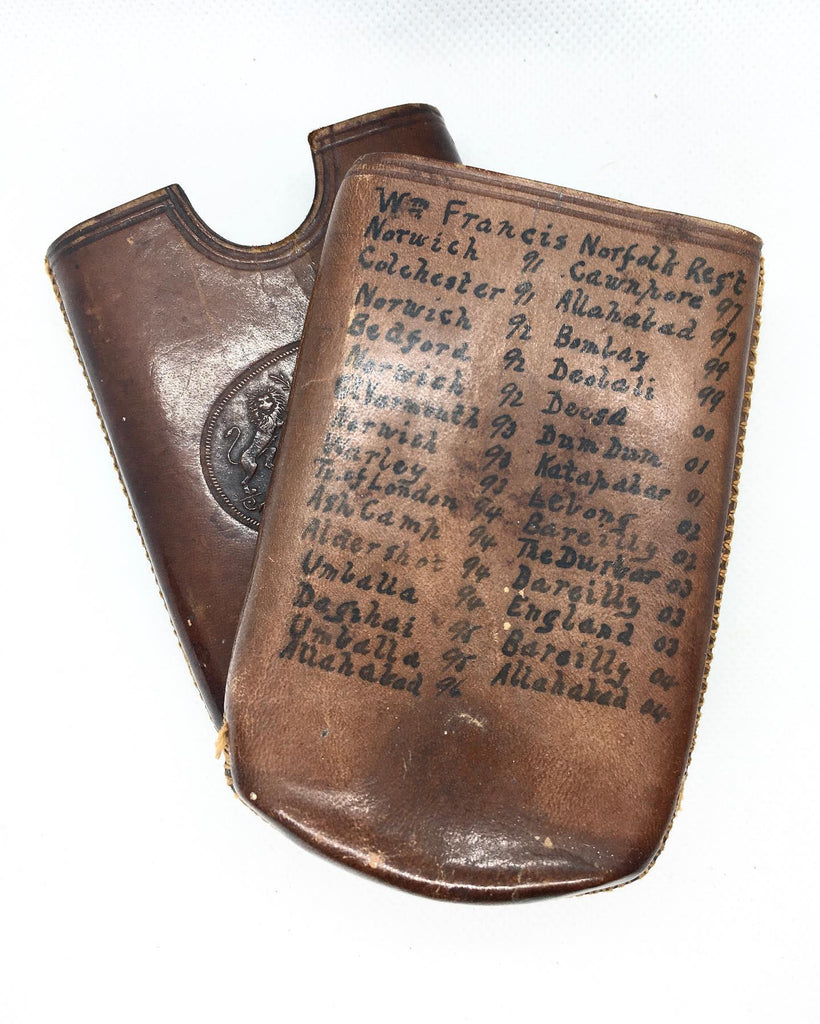 Find Of The Week - Militaria Leather Cigar Case Of 2805 William Francis 2nd Battalion Norfolk Regiment 1891 - 1914