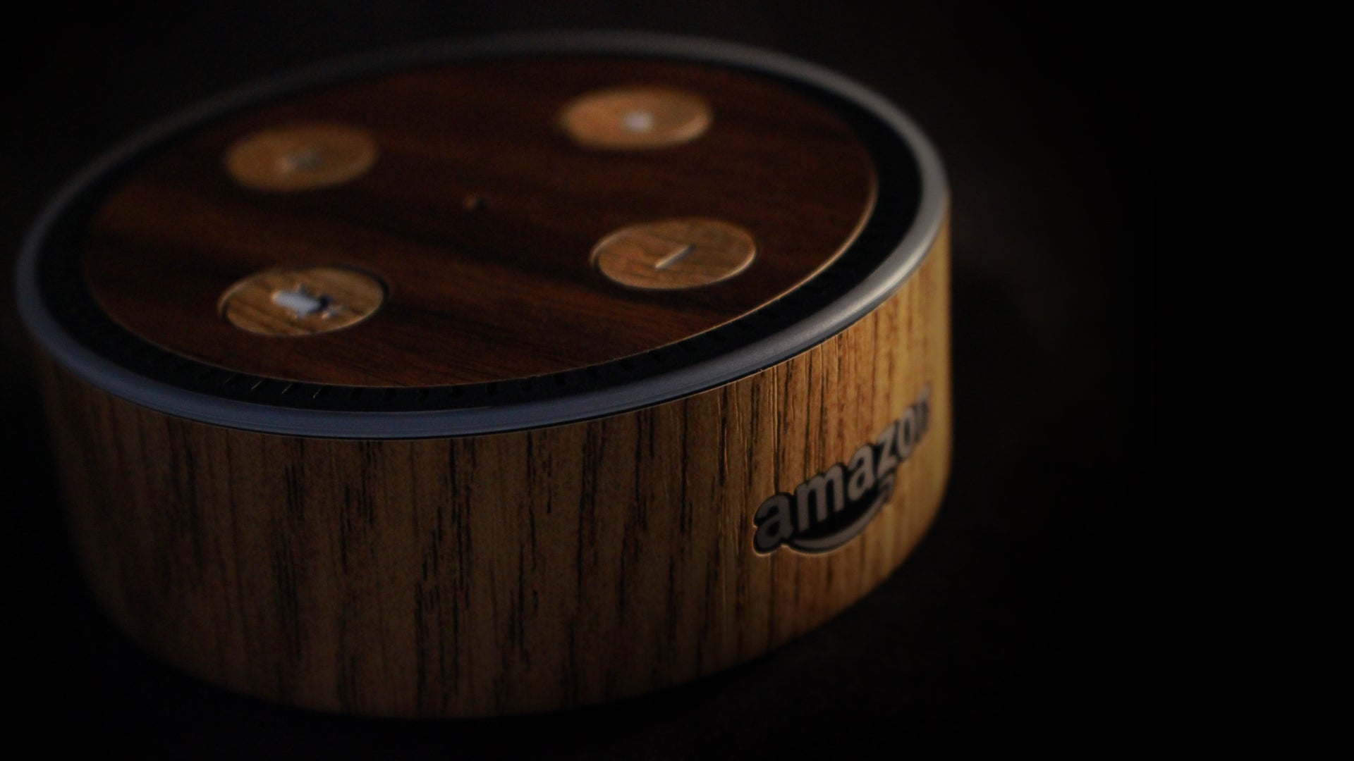 Amazon Echo Dot Light Oak Wood Skins