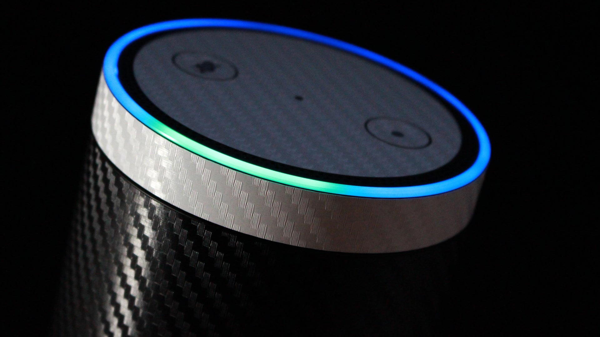 Amazon Echo Black Carbon Skins