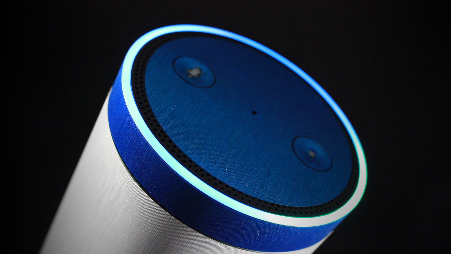 Amazon Echo Brushed Blue Skins