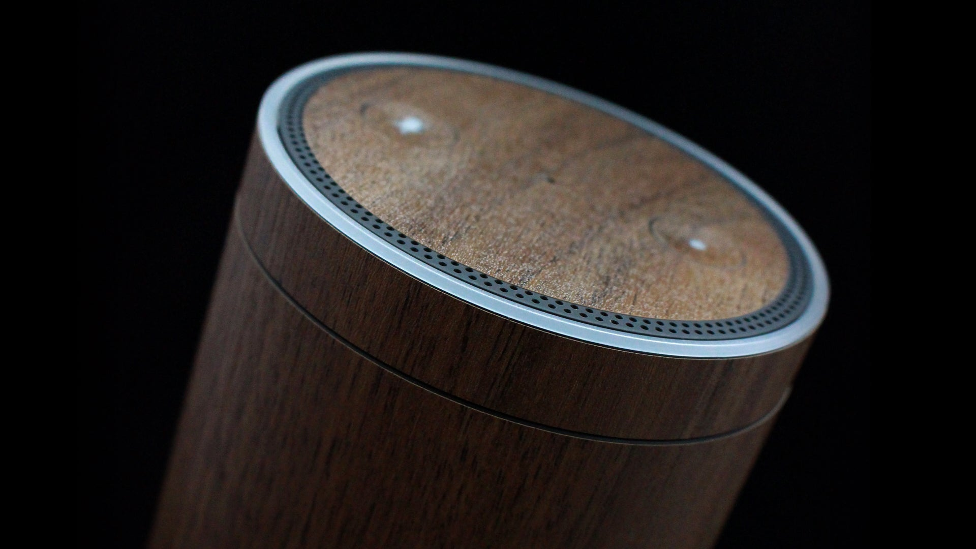 Amazon Echo Dark Oak Wood Skins
