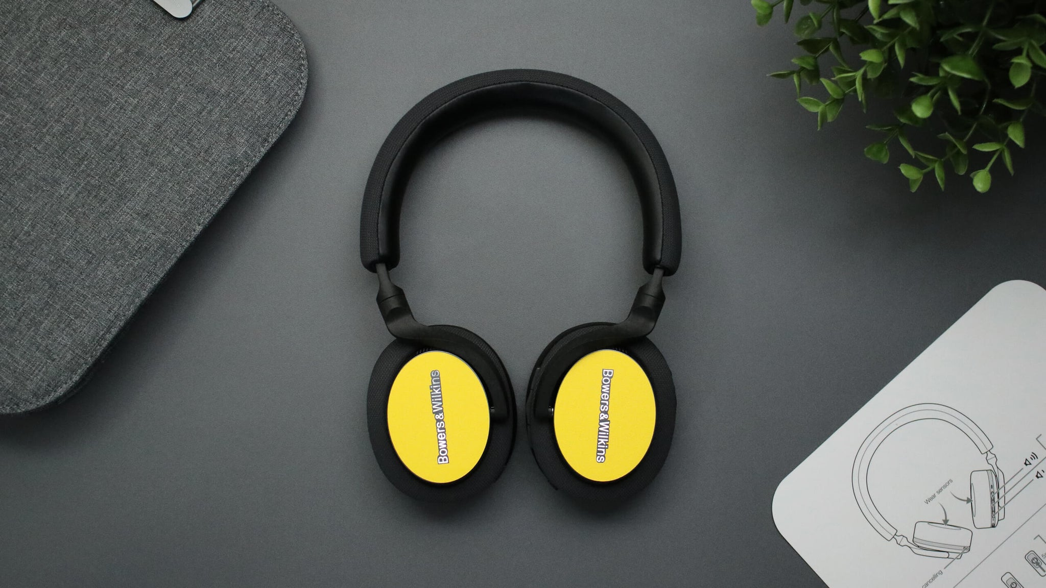 Bowers and WIlkins PX5 Textured Matt Yellow Headphone Skins