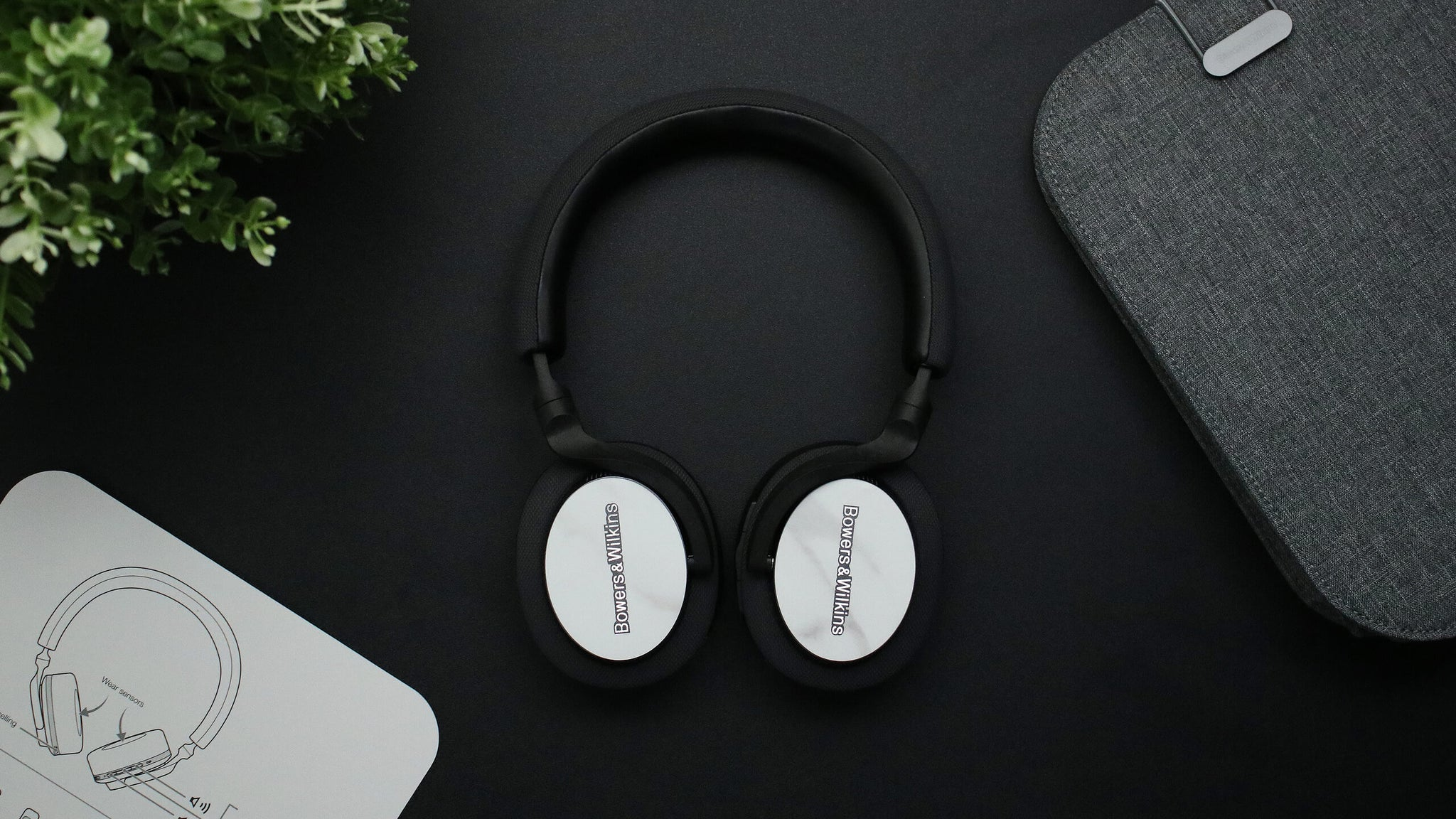 Bowers and WIlkins PX5 Textured White Marble Headphone Skins