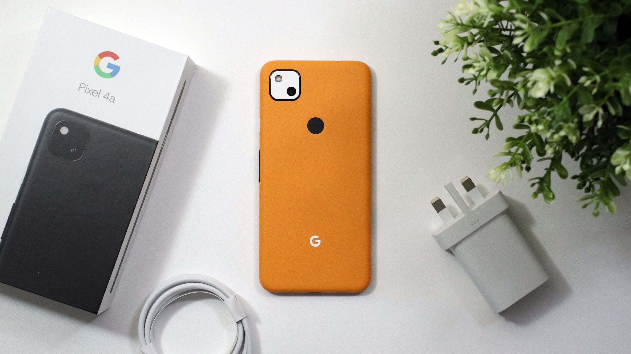 Google Pixel 4a Textured Matt Orange Skins