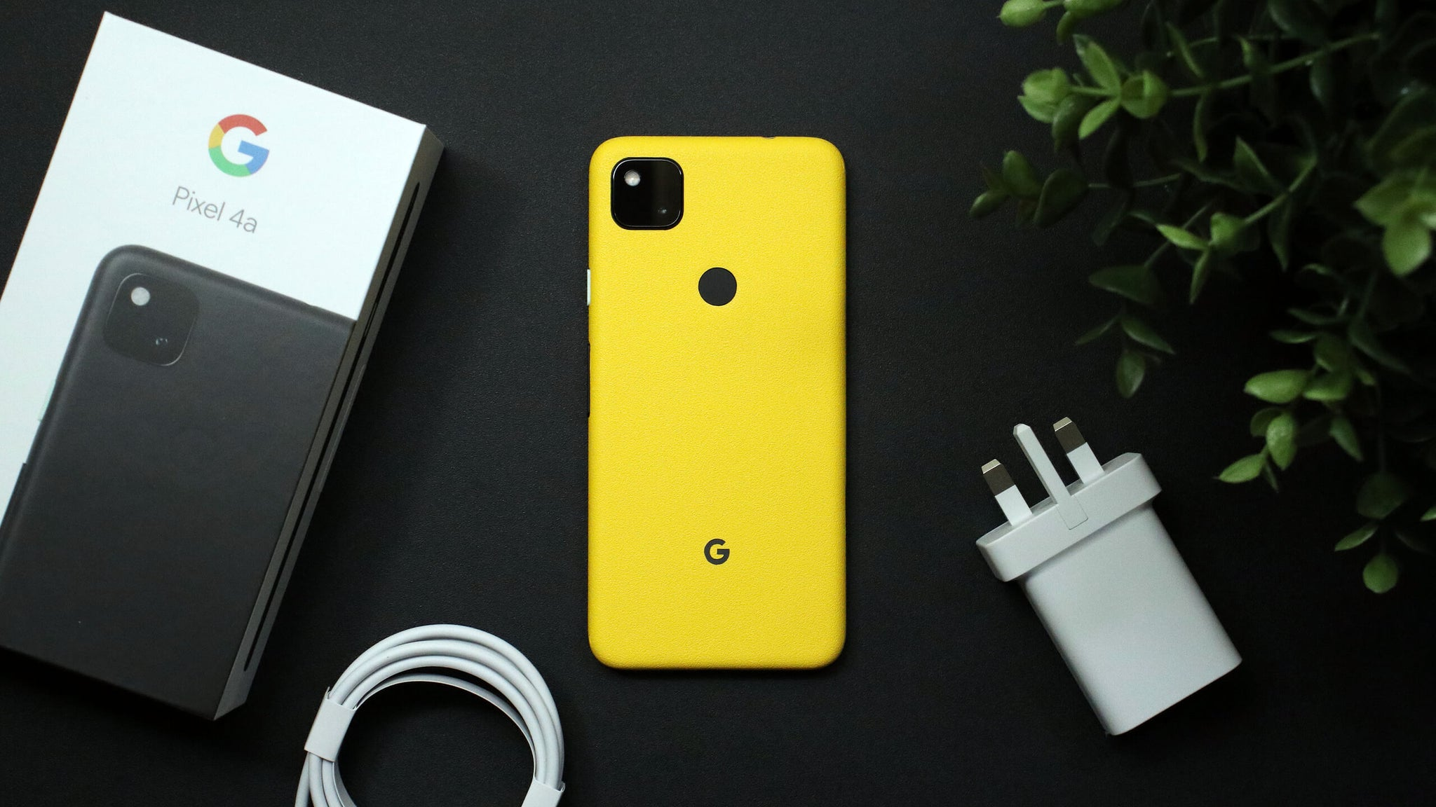 Google Pixel 4a Textured Matt Yellow Skins