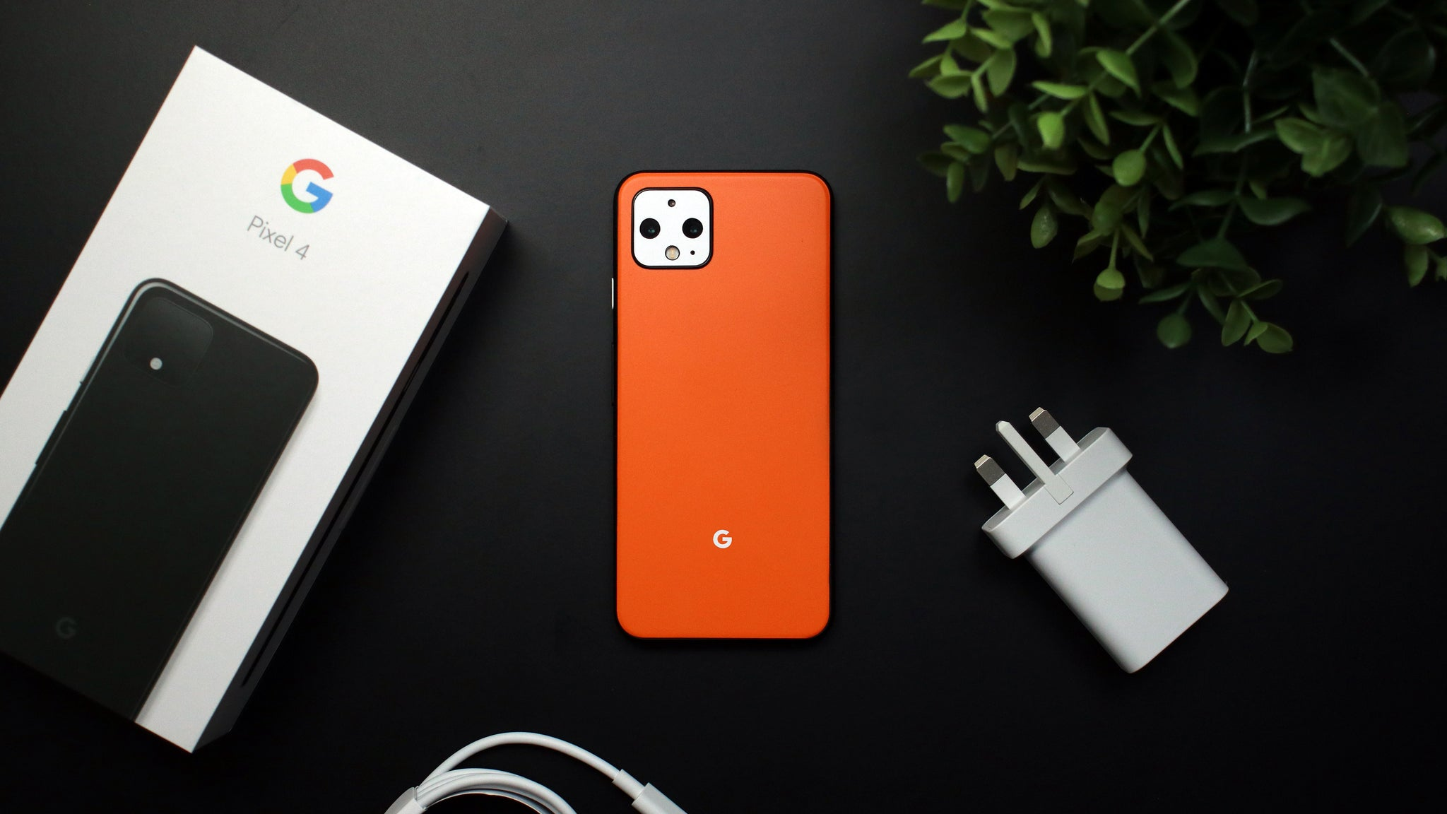 Google Pixel 4 Matt Orange Skins