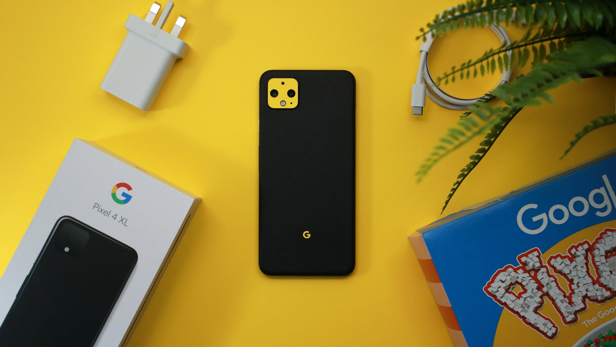 Google Pixel 4 Textured Matt Black Skins