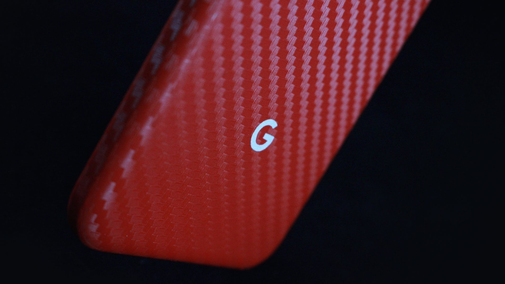 Google Pixel Red Carbon Skins