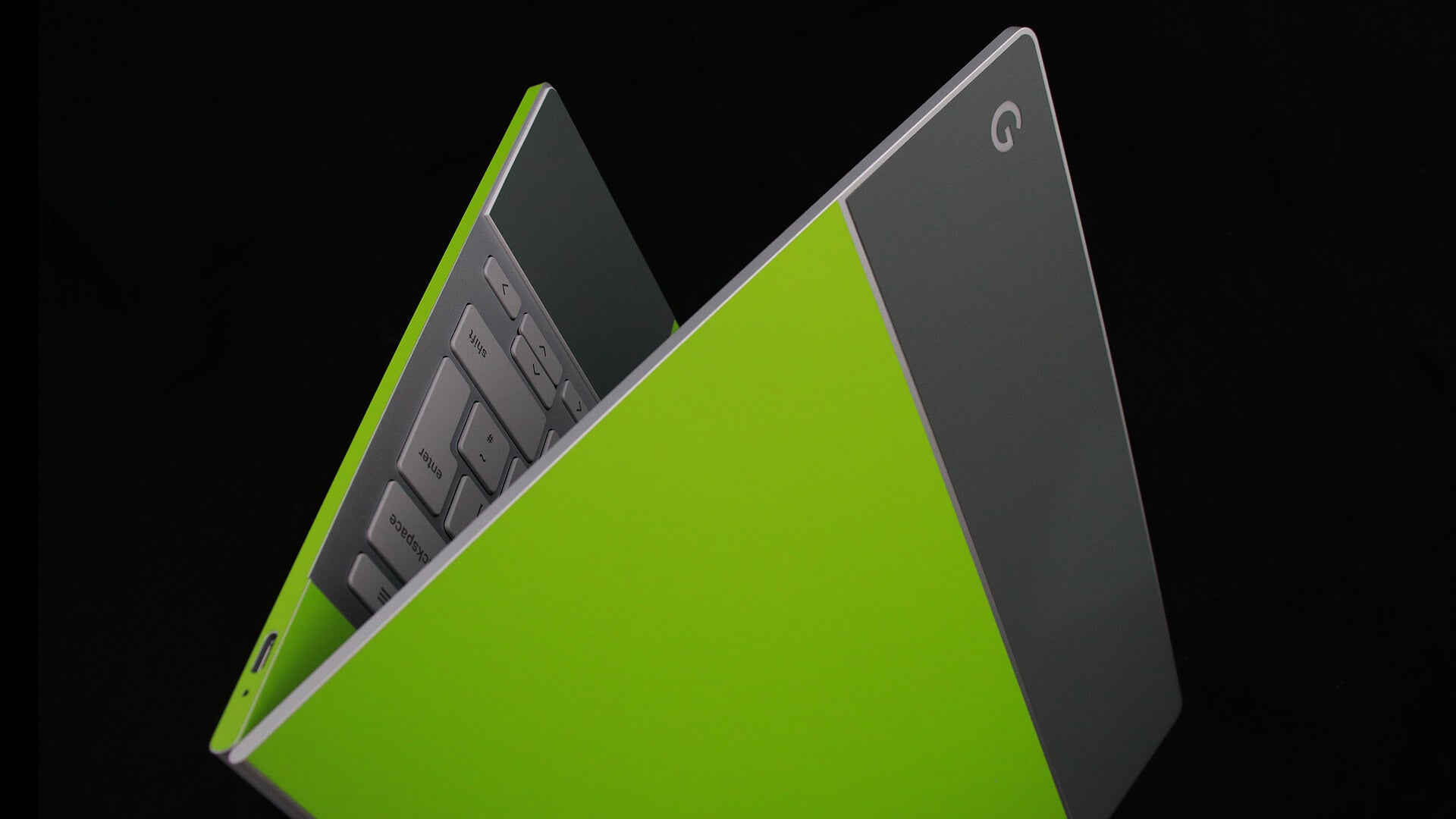 Google Pixelbook Matt Green and Matt Grey Skins