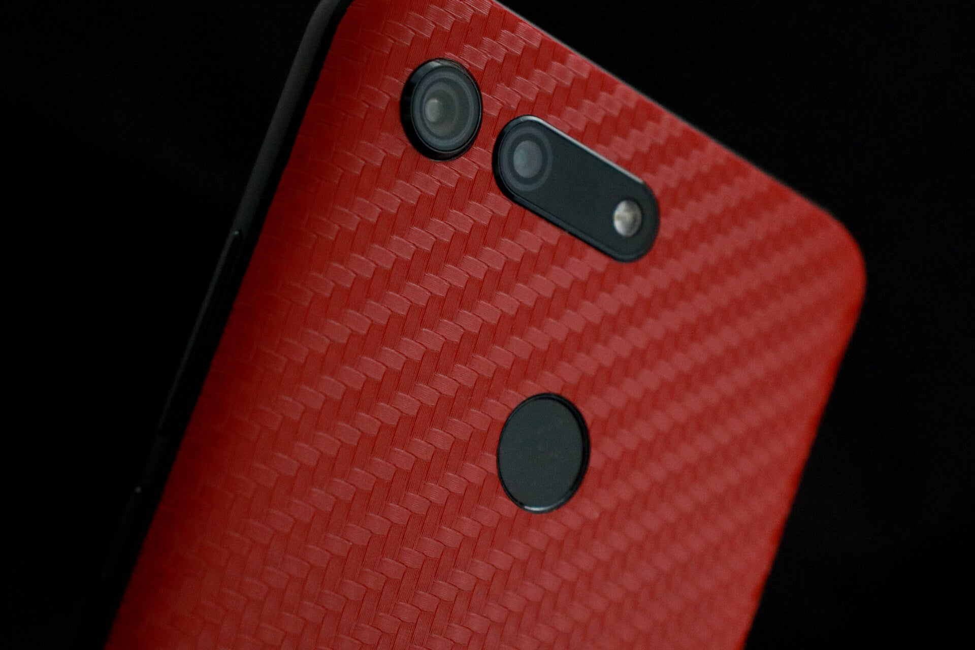 Honor View 20 Red Carbon Fibre Skins