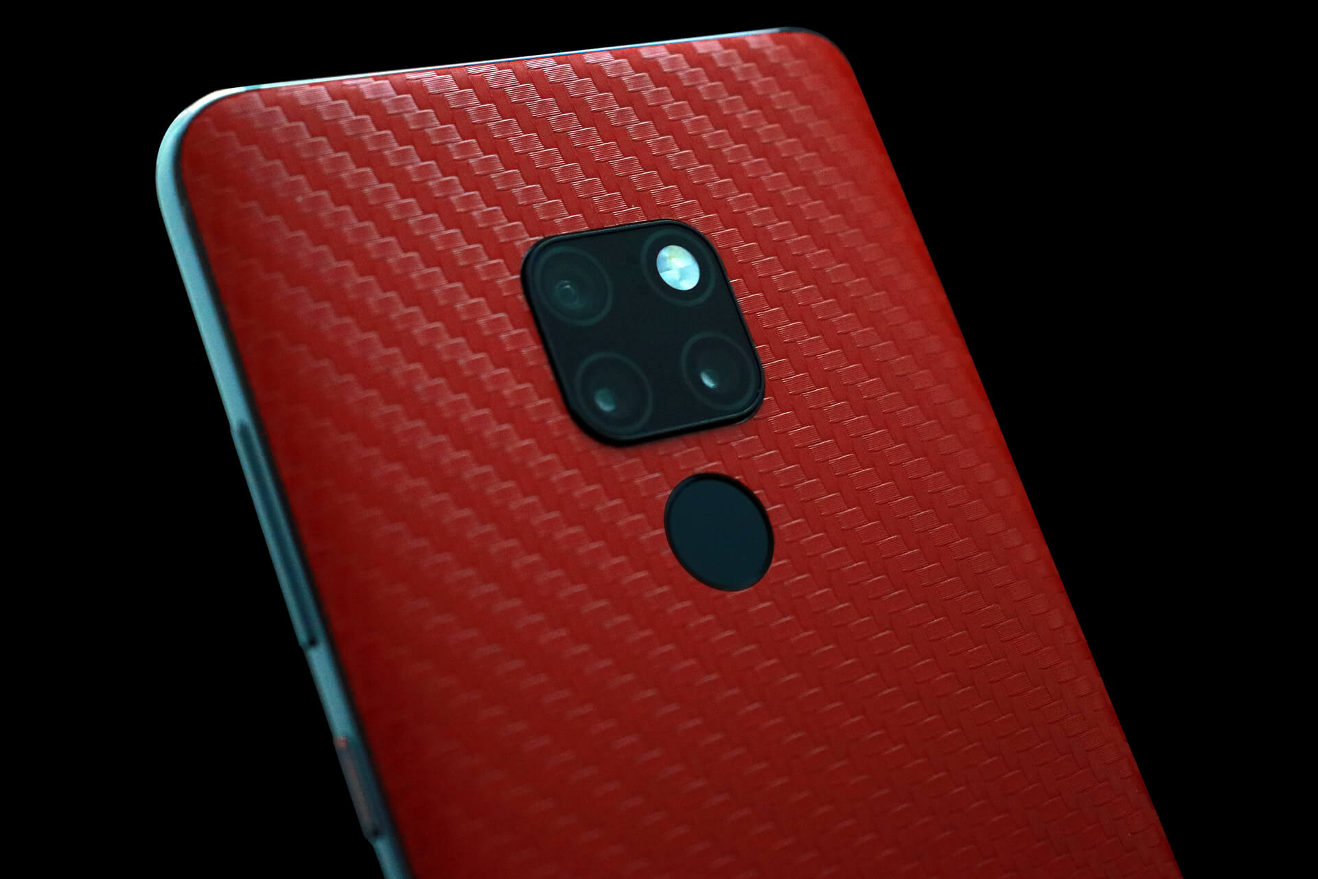 Huawei Mate 20 Red Carbon Fibre Skins