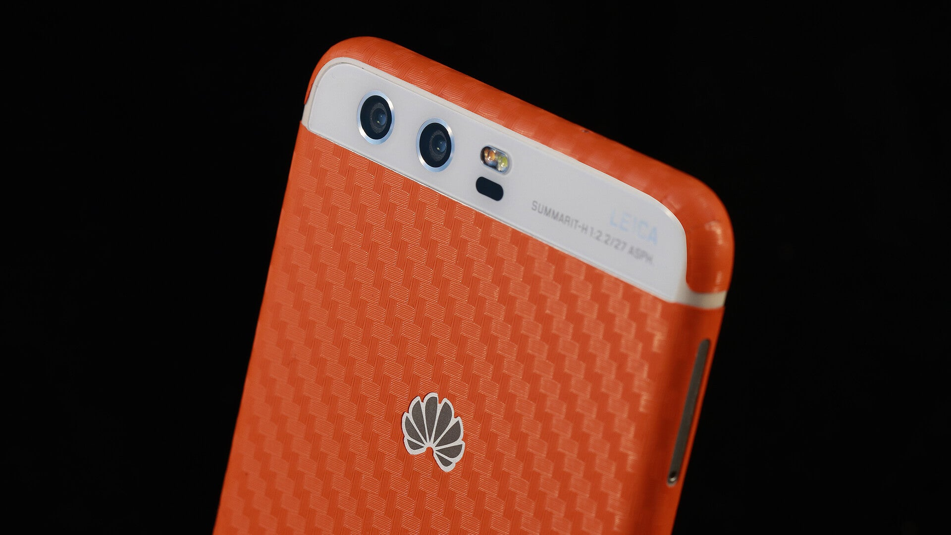 Huawei P10 Orange Carbon Skins