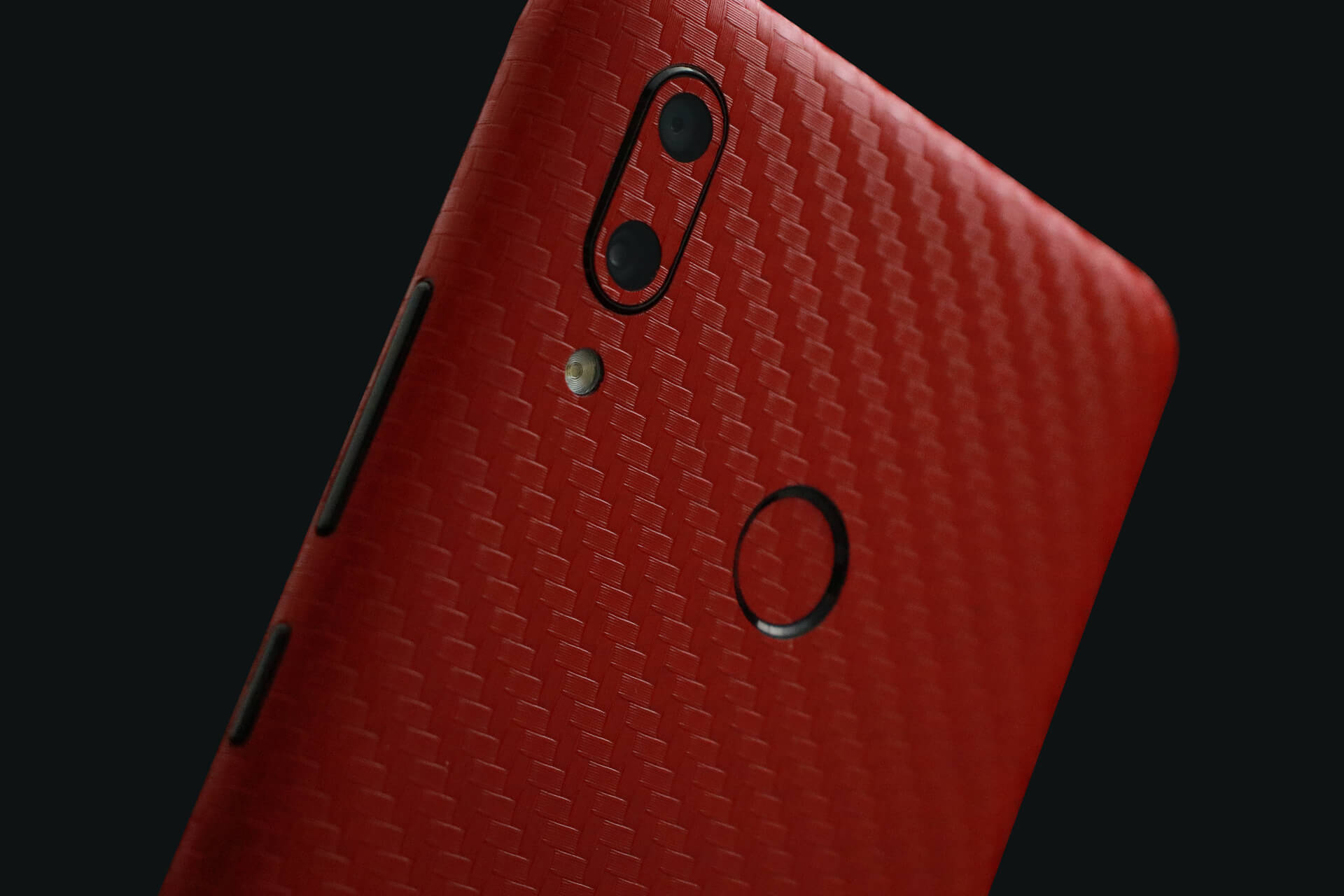 Huawei P Smart 2019 Red Carbon Fibre Skins
