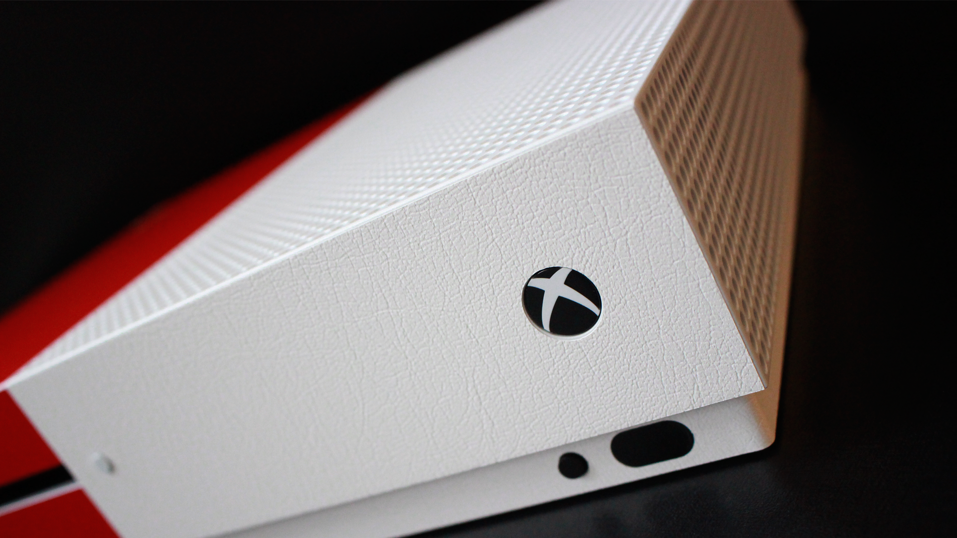 Xbox One S Skins White Leather Combo