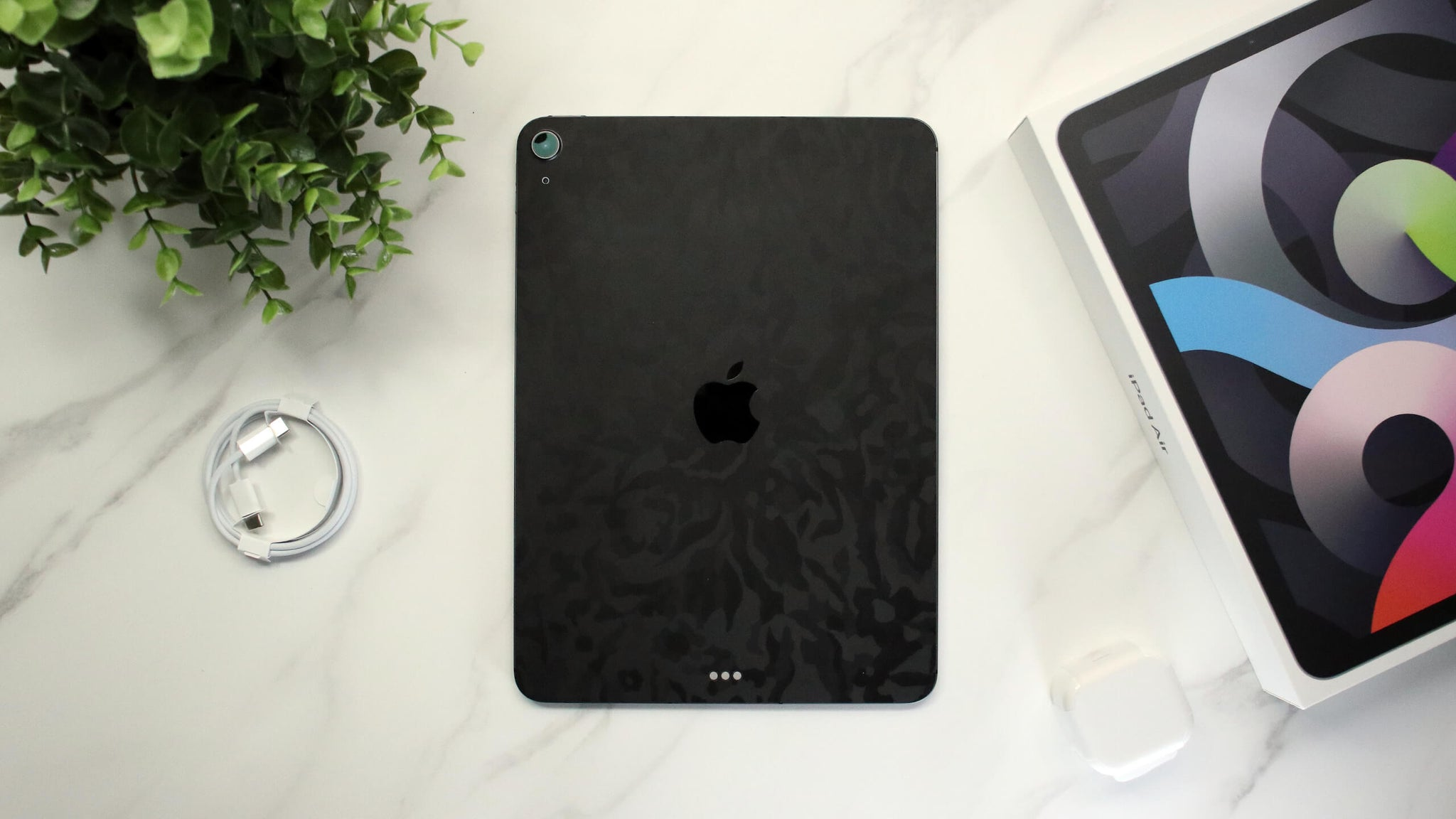 "iPad Air 11"" (2020, Gen 4) Black Camo Skins"