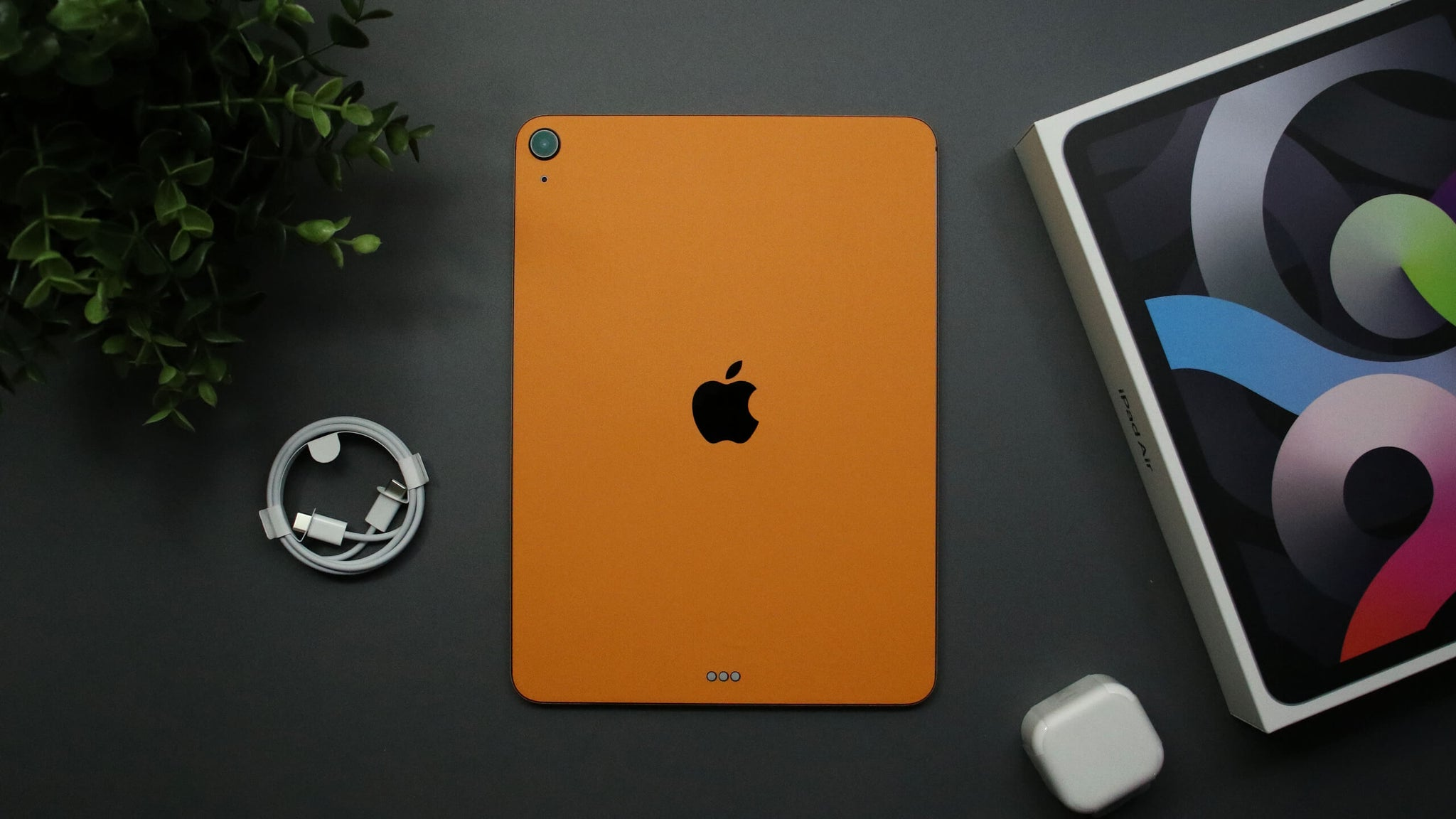 "iPad Air 11"" (2020, Gen 4) Textured Matt Orange Skins"