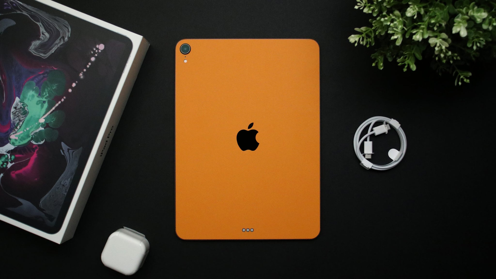 "iPad Pro 11"" (2018, Gen 1) Textured Matt Orange Skins"