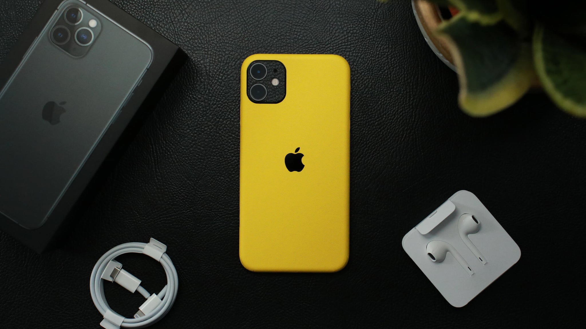 iPhone 11 Textured Matt Yellow Skins