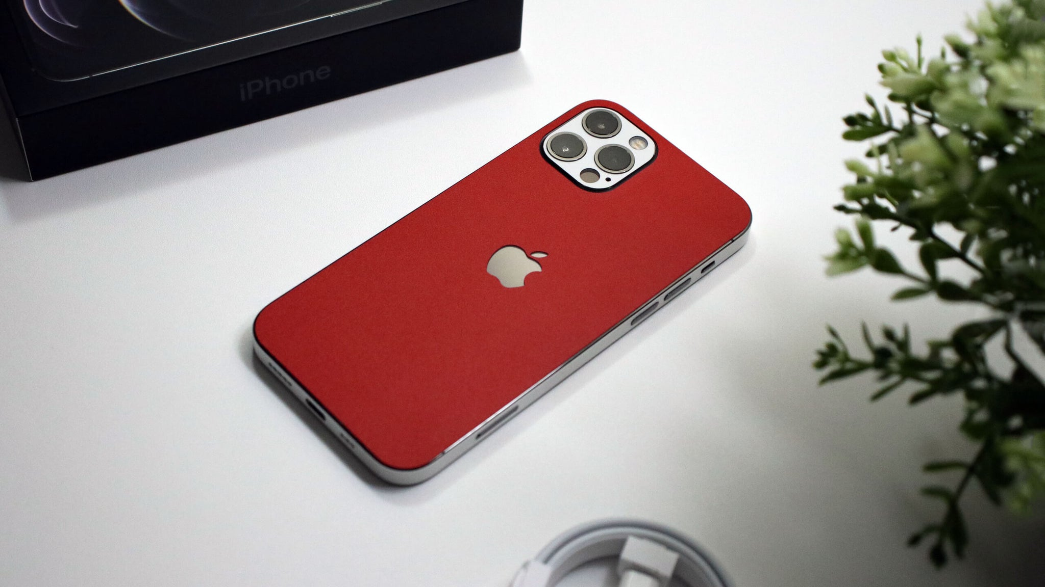 iPhone 12 Pro Textured Matt Red Skins