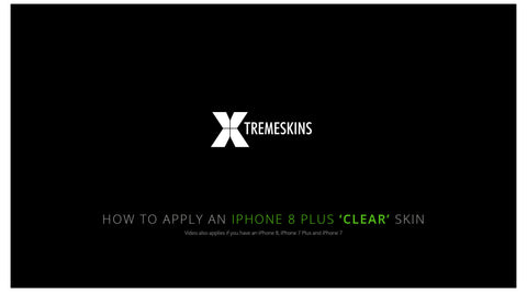 How to apply an iPhone 8 Plus Clear skin