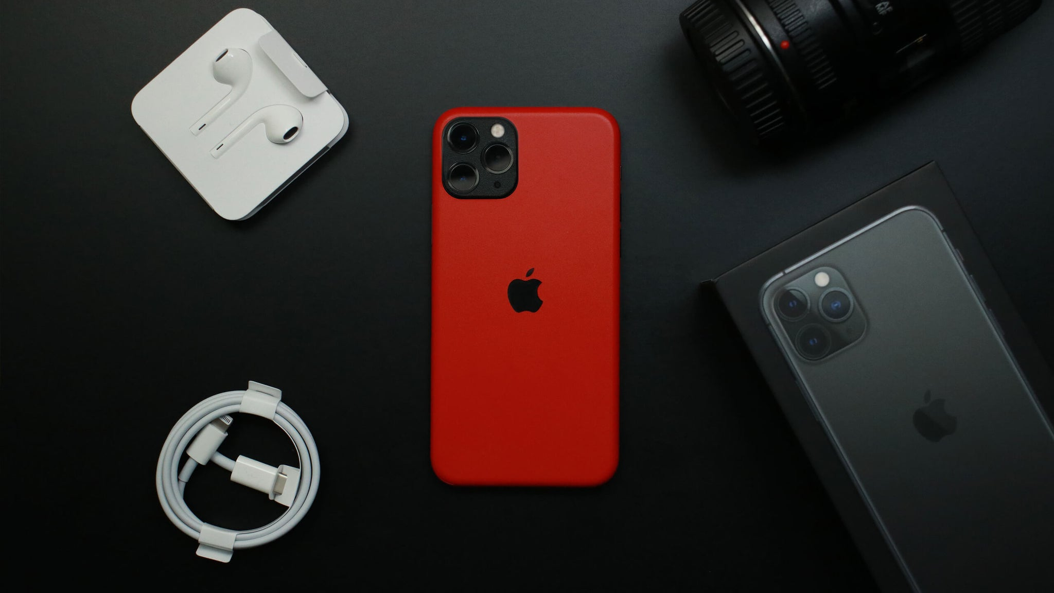 iPhone 11 Pro Max Matt Red Skins