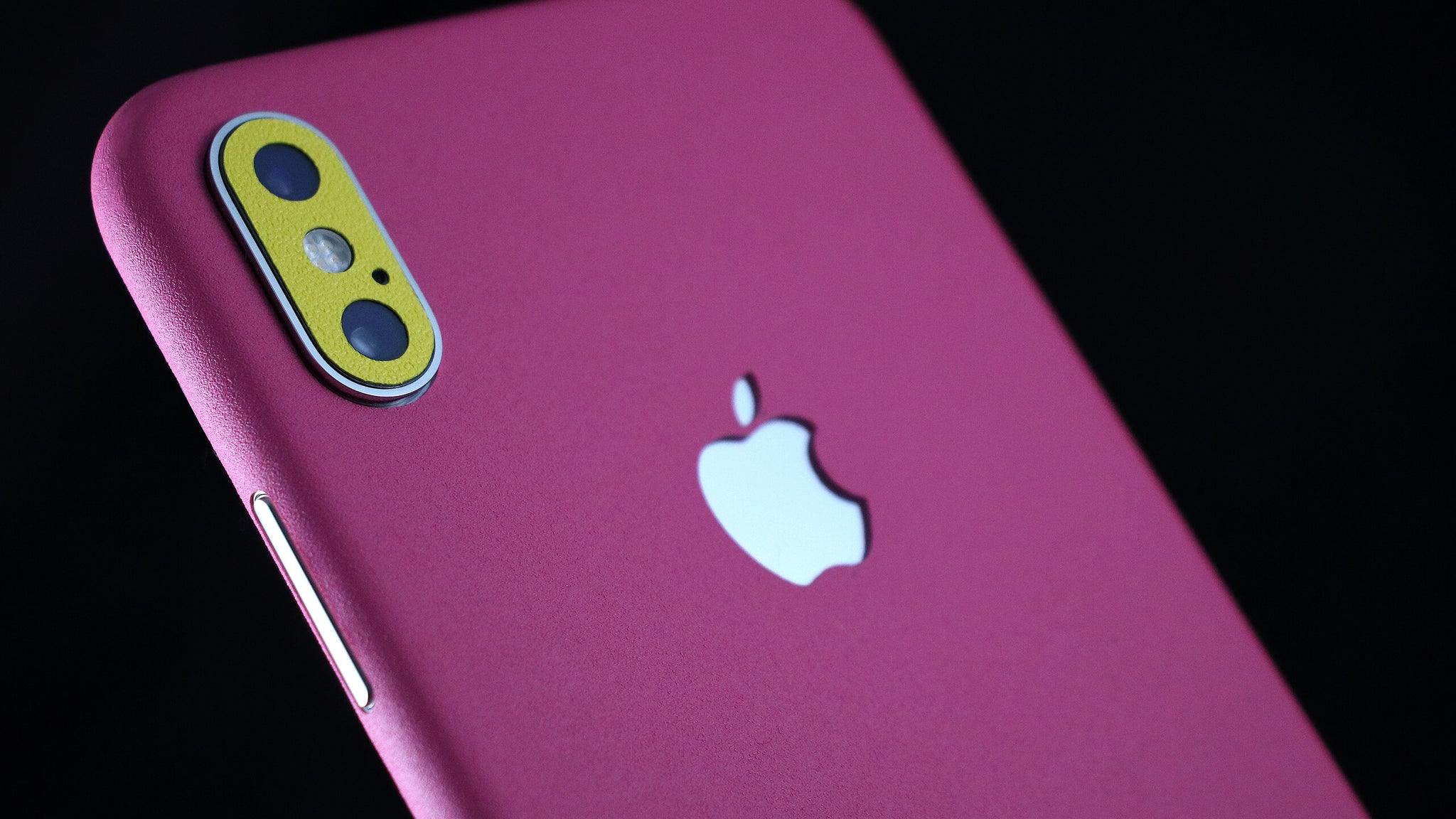 iPhone XS Max True Colour Pink and True Colour Yellow skin