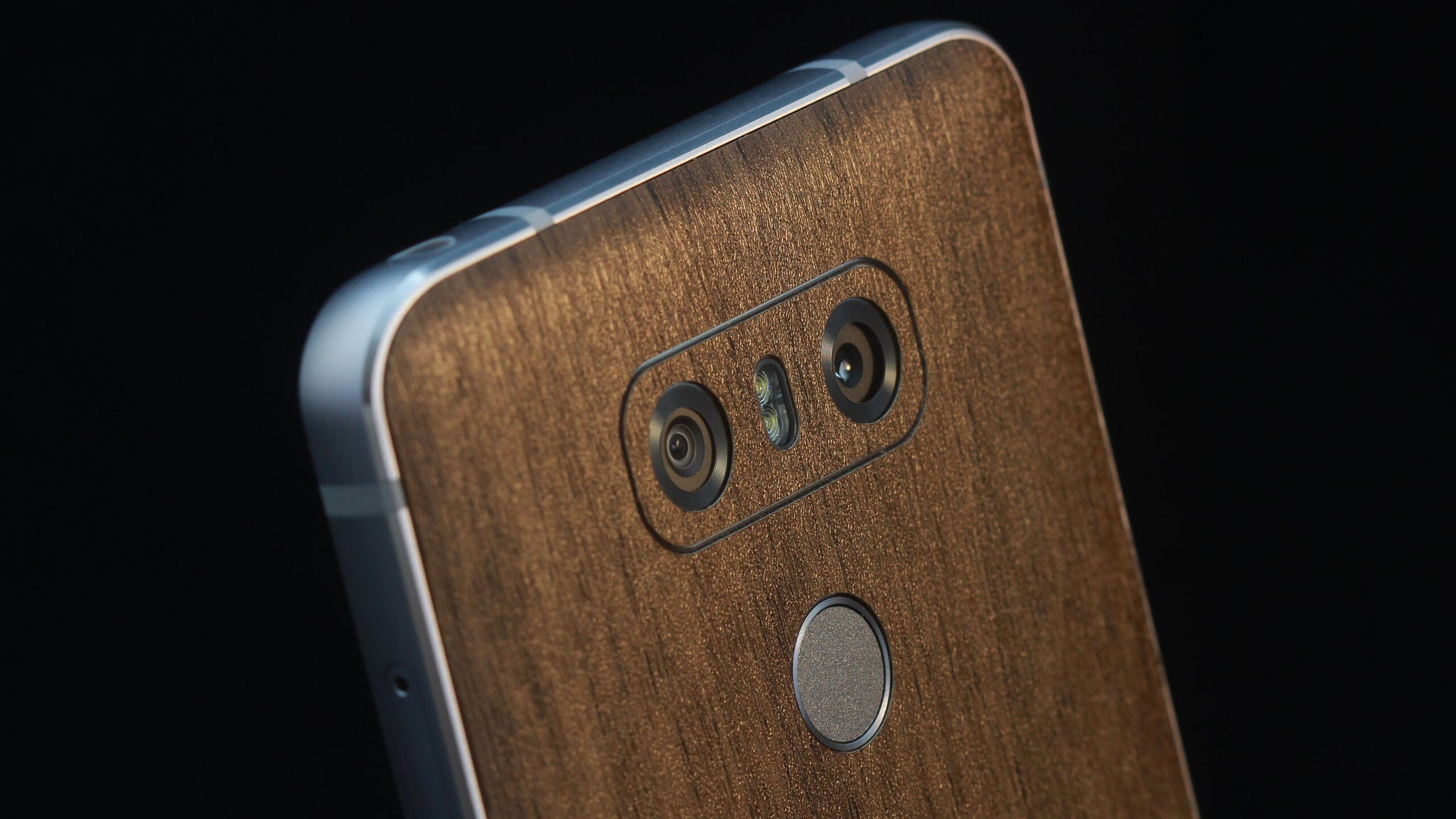 LG G6 Dark Oak Wood Skins