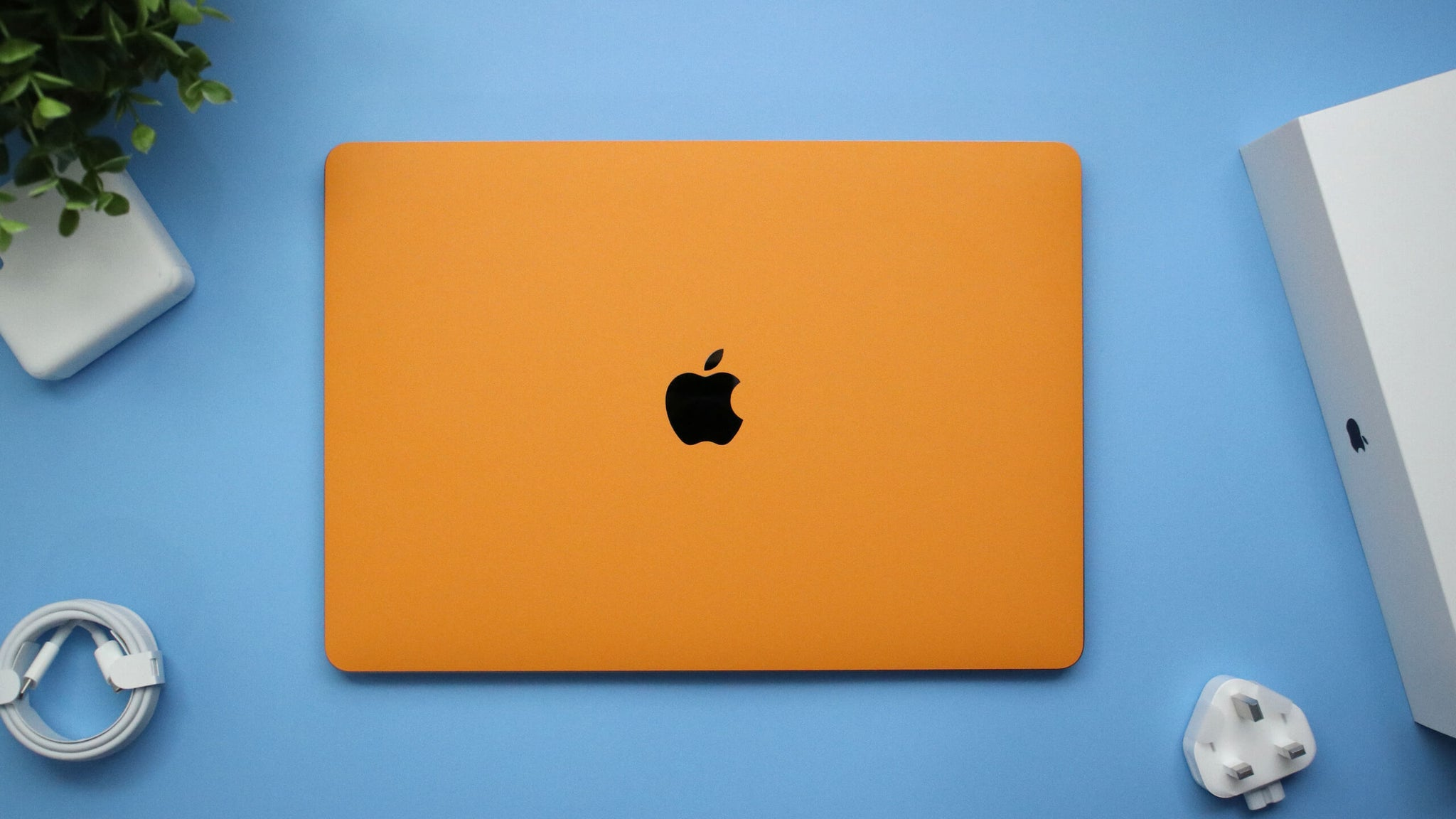 "MacBook Pro 13"" (2020) Textured Matt Orange Skins"