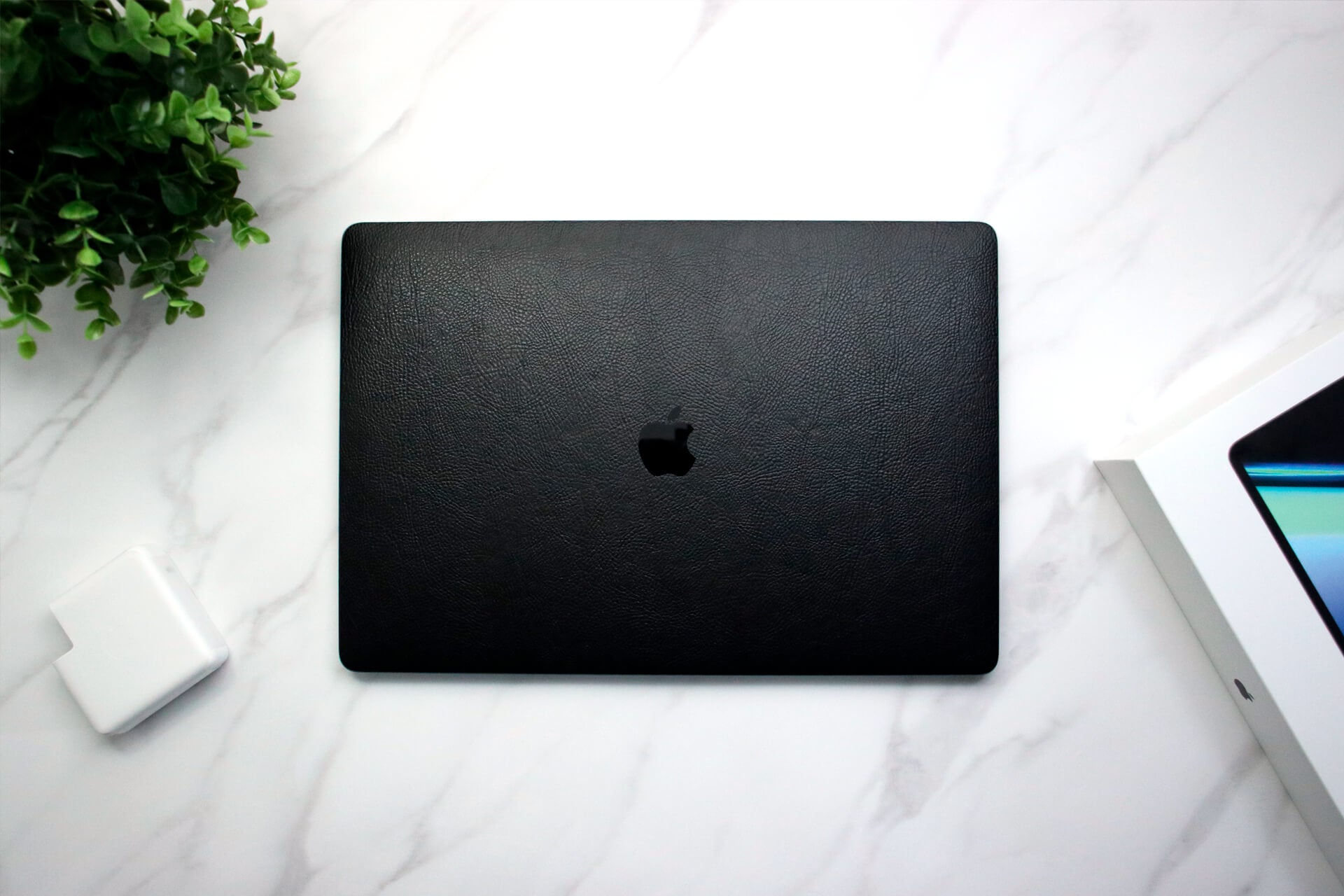 MacBook Pro 16-inch Black Leather Skins