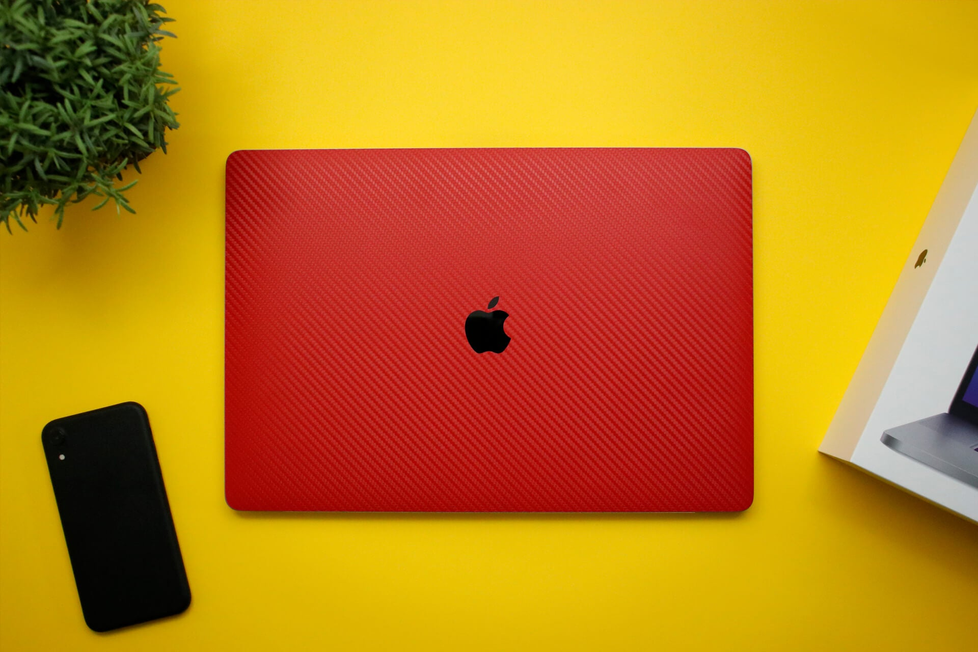 MacBook Pro 16-inch Red Carbon Fibre Skins