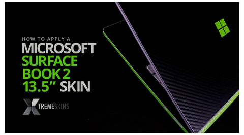 How to apply a Microsoft Surface Book 2 13.5 (inch) skin