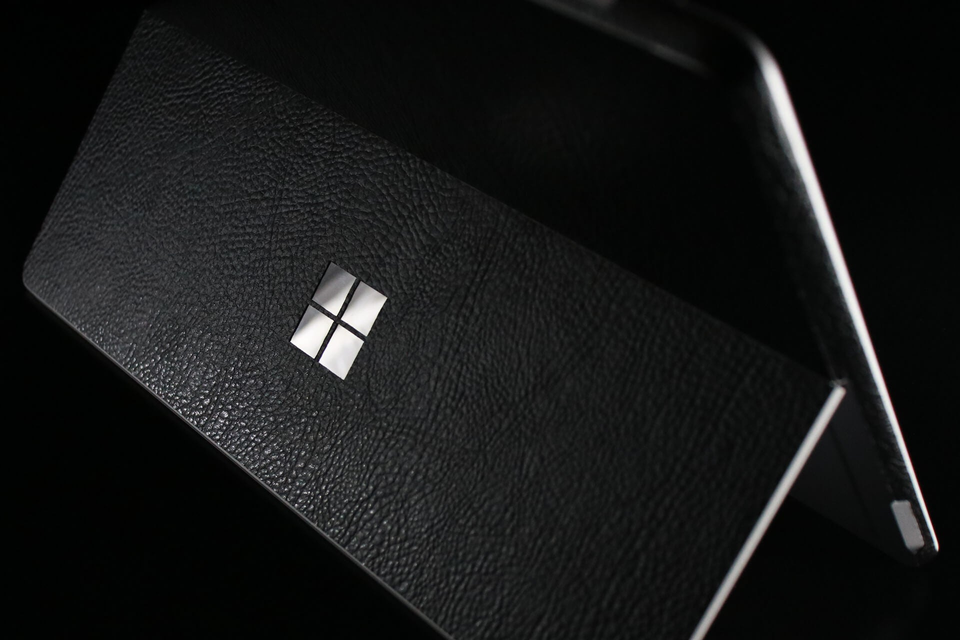 Microsoft Surface Go Black Leather Skins