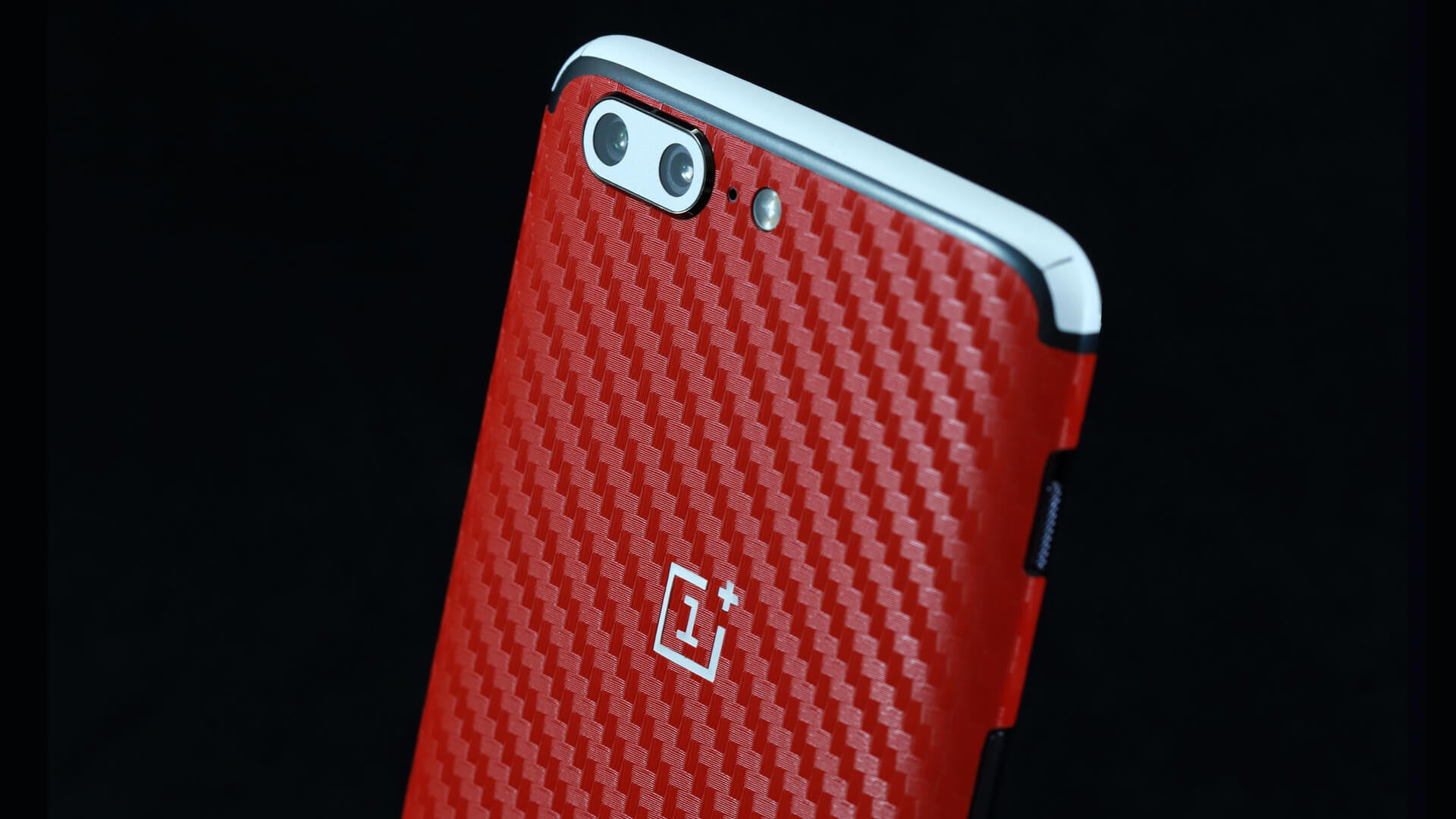 OnePlus 5 Red Carbon Skins