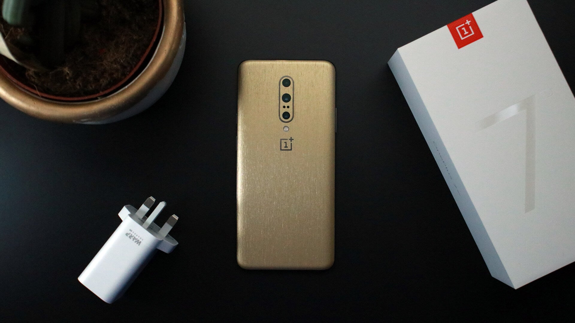 OnePlus 7 Pro Brushed Gold Skins