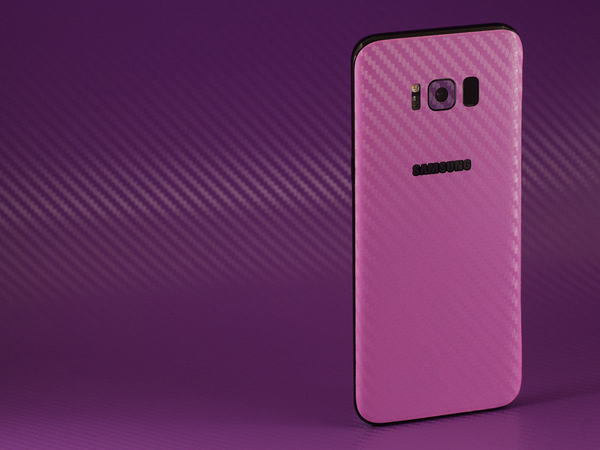 Samsung Galaxy S8 Pink Carbon Skins