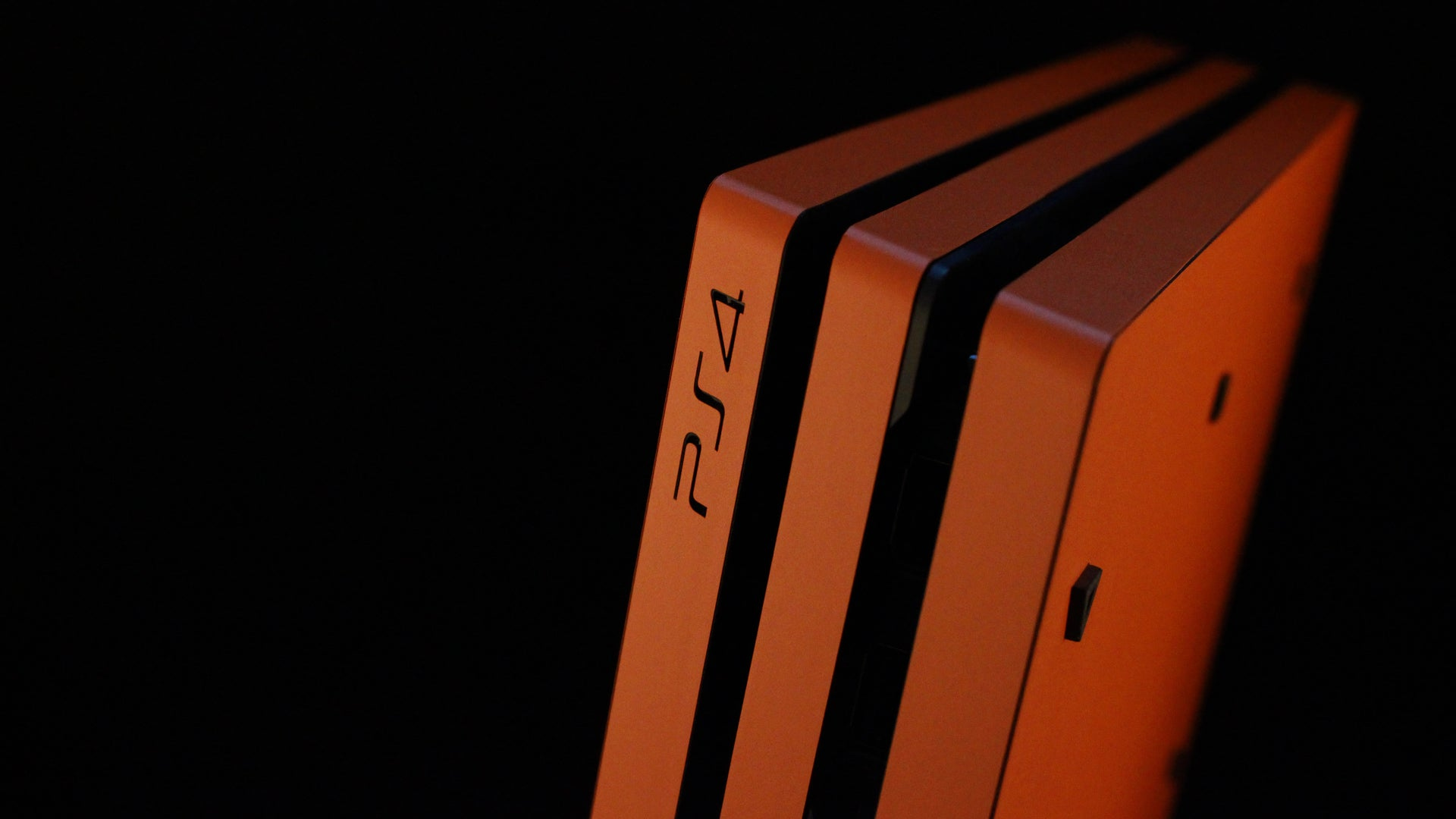 PS4 Pro Matt Orange Skins