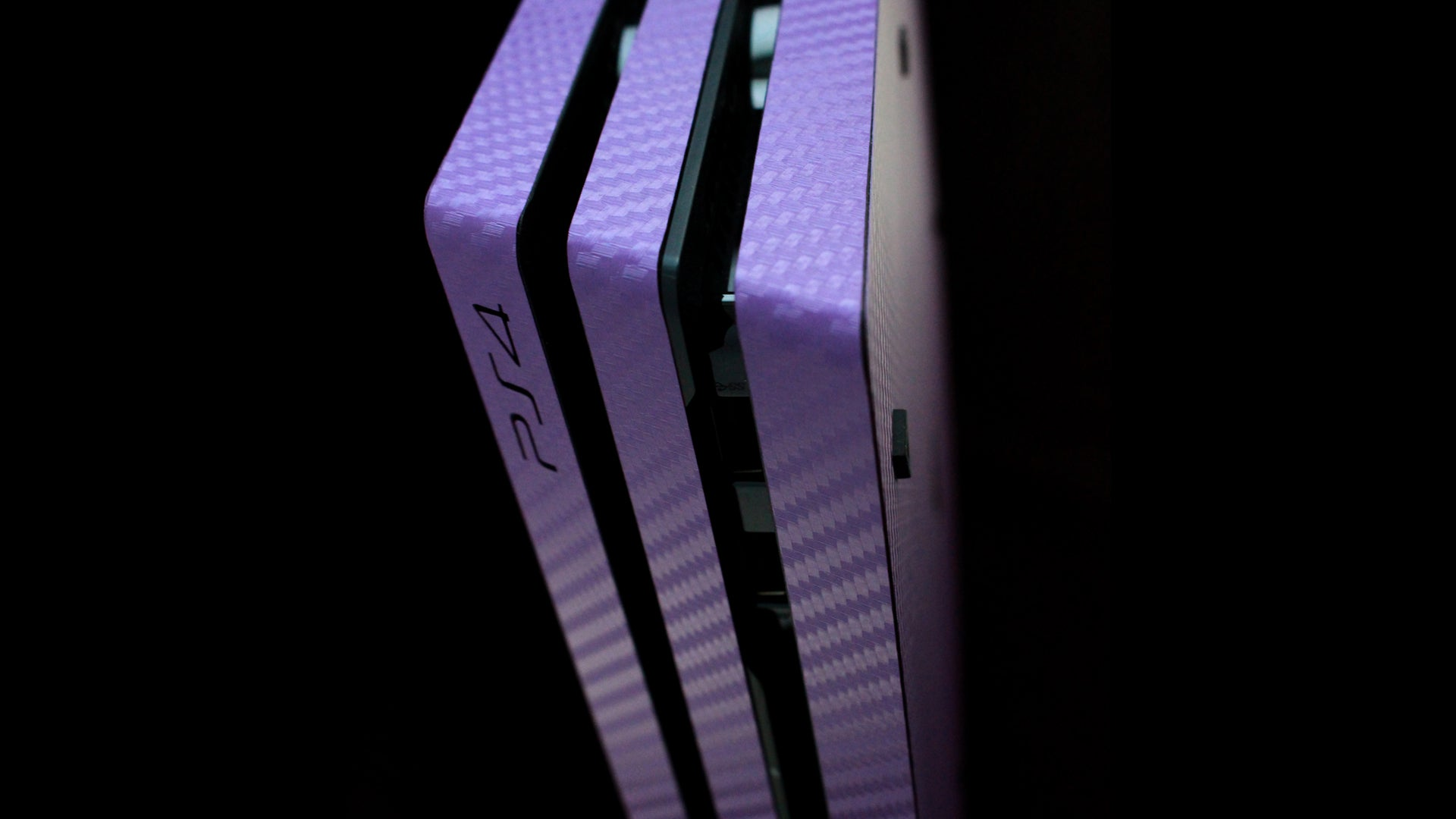 PS4 Pro Purple Carbon Skins