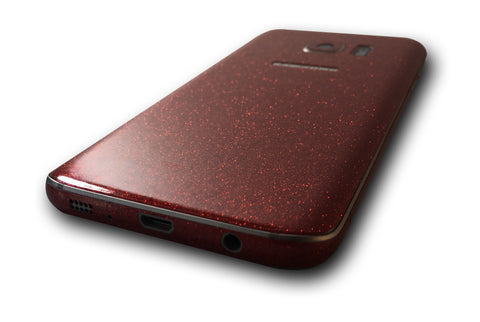 Samsung Galaxy S7 Red Gitter Skin