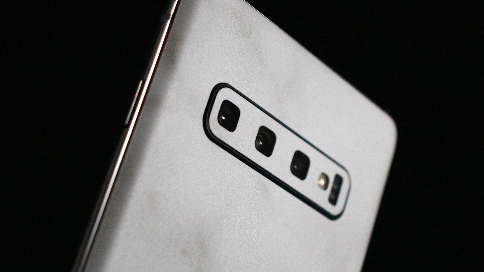 Samsung Galaxy S10 White Marble Skins