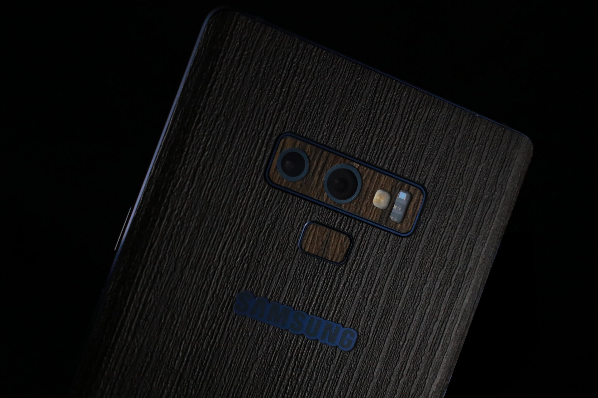 Samsung Galaxy Note 9 Silverblack Wood Skins