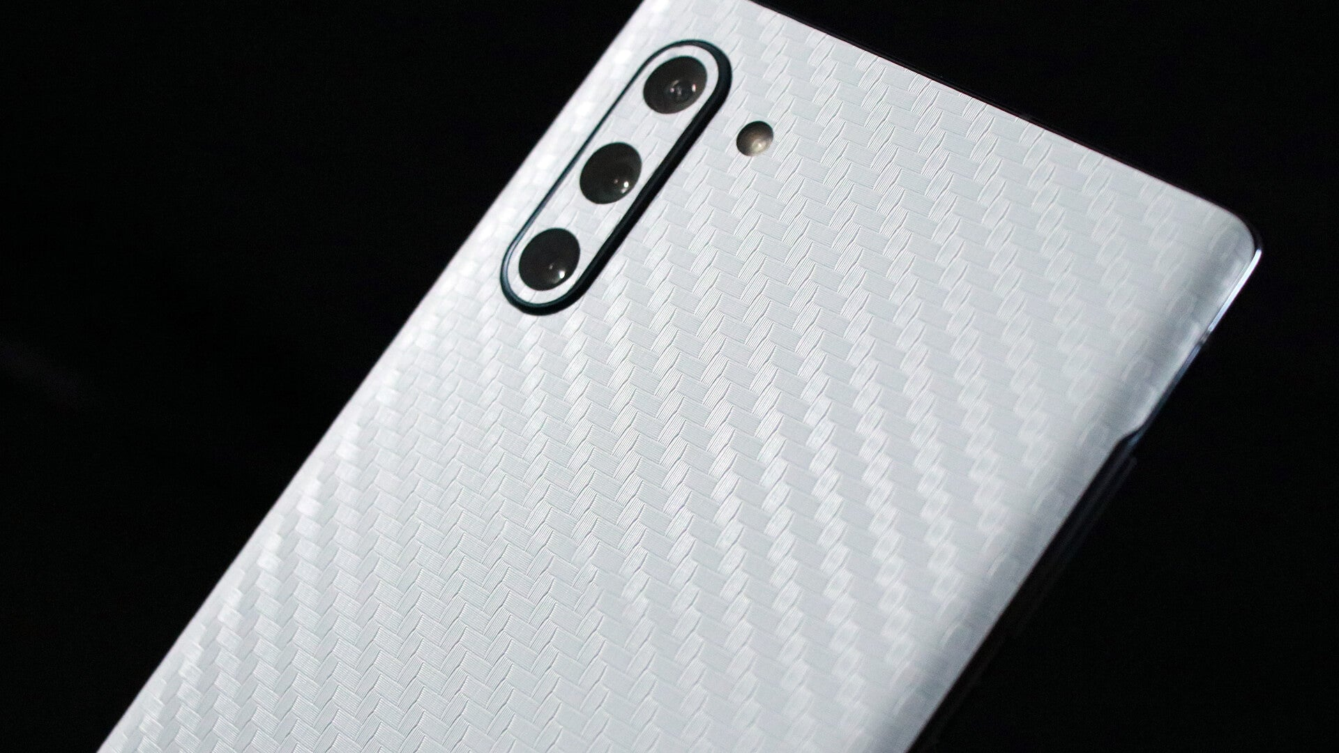 Samsung Galaxy Note 10 White Carbon Fibre Skins